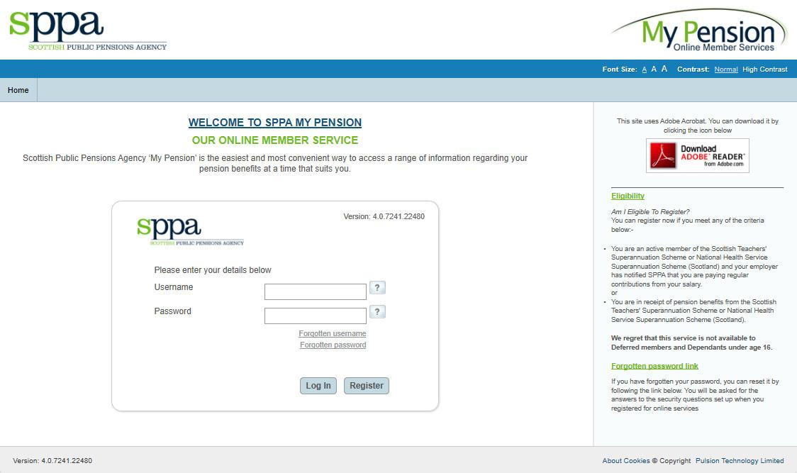 SPPA web service portal
