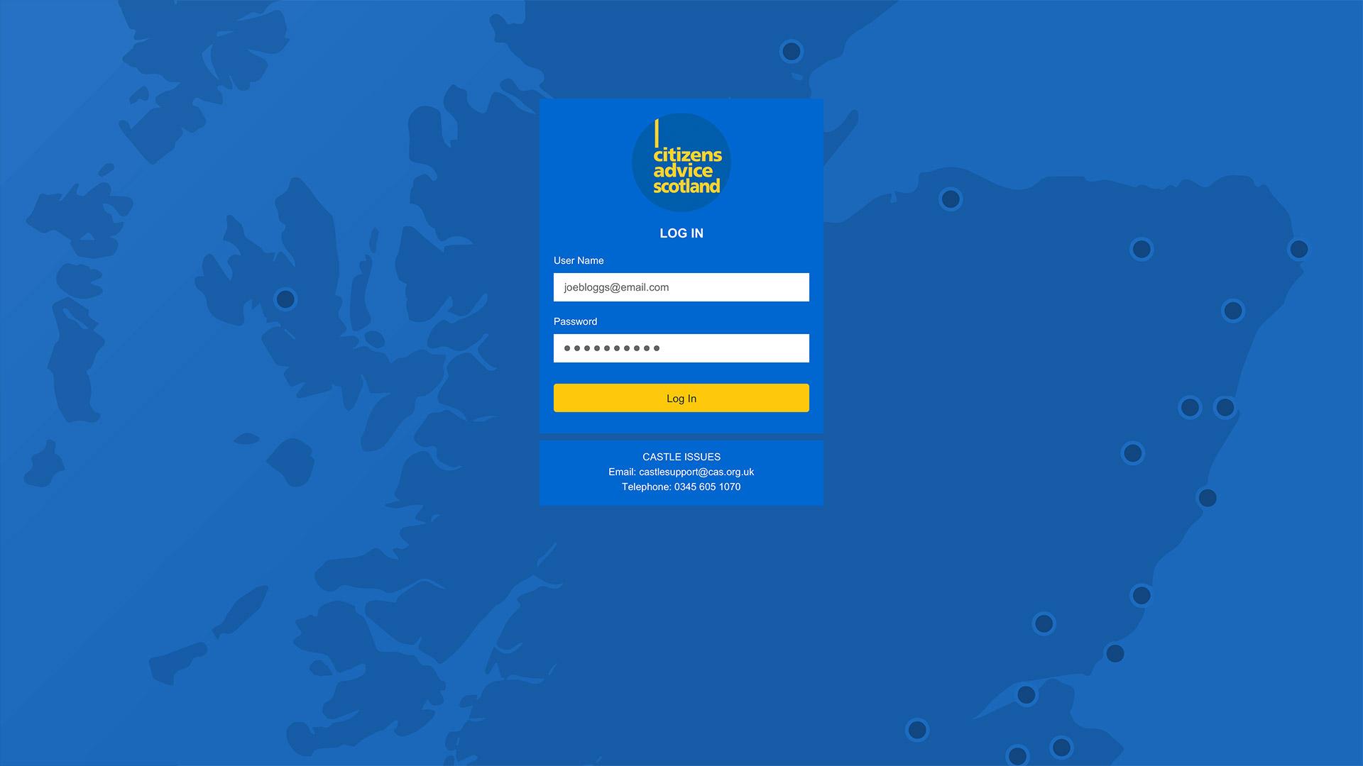 CAS redesigned website